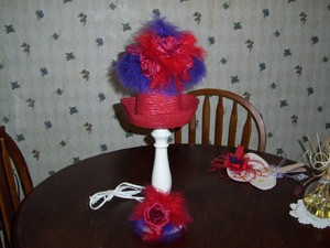 decorative red hat lamp