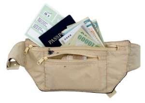 Travel pack with documents.