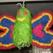 brightly colored piñata