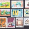 A stamp collection.