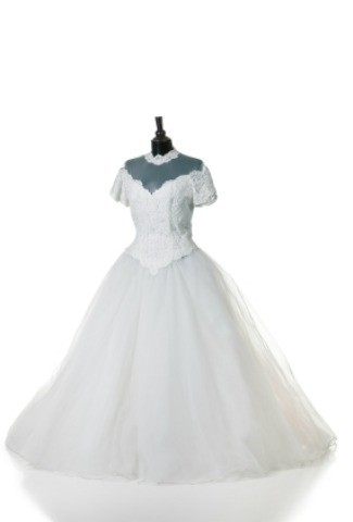 Cleaning a wedding dress thriftyfun for Where to dry clean wedding dress