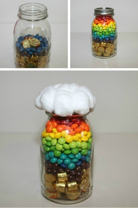 """Rainbow in a Jar"" Candy Gift"