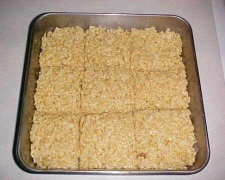 Making Marshmallow Cereal Treats