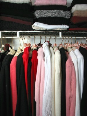 Organized Clothes in Closet