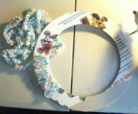 wrapping wreath form with chain