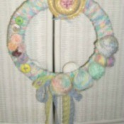 Finished wreath.