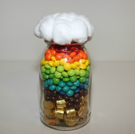 jar filled with candy and topped with a cloud