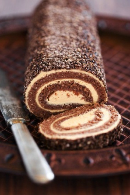 Oatmeal Swiss Roll Cake