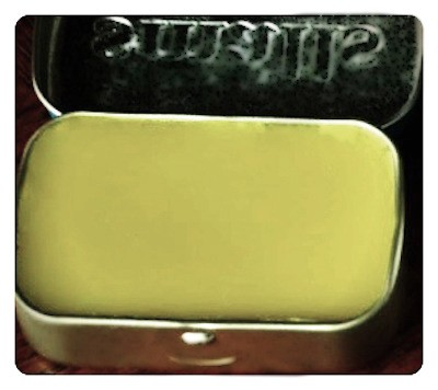 Altoids tin with lip balm.