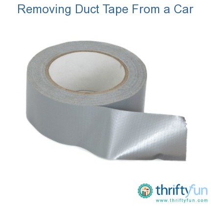 How To Get Duct Tape Residue Off Car