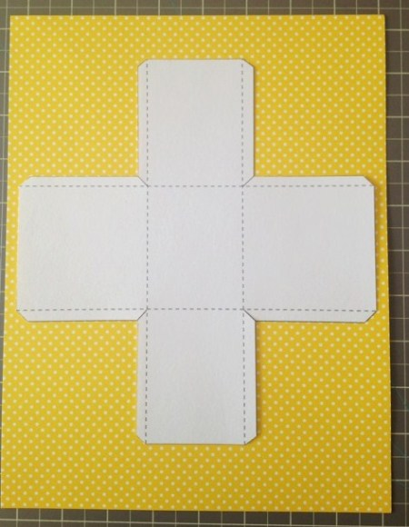 Template on cardstock.