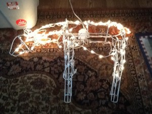 Lighted reindeer.