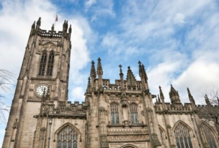 Manchester Cathedral in England