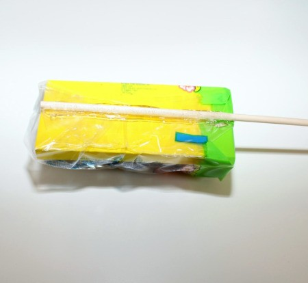 glue dowel to candy 1