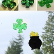 St. Patrick's Day Suncatchers