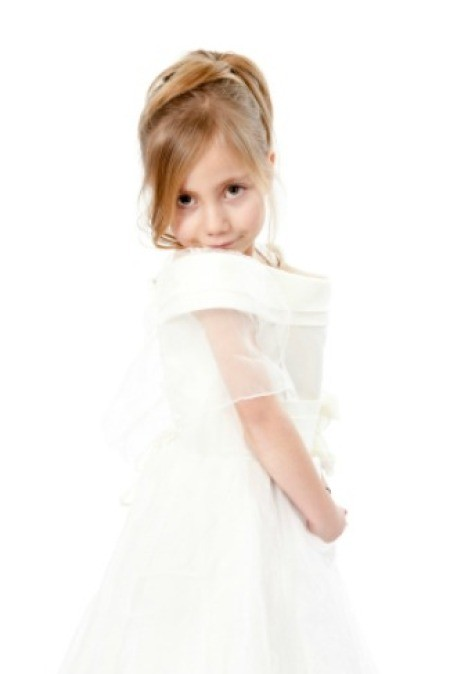 child wearing a nice dress