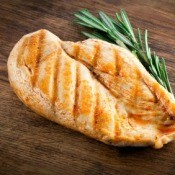 Grilled Chicken on Wood with Rosemary