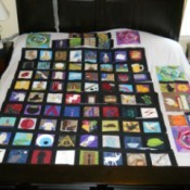 Harry Potter quilt in process.
