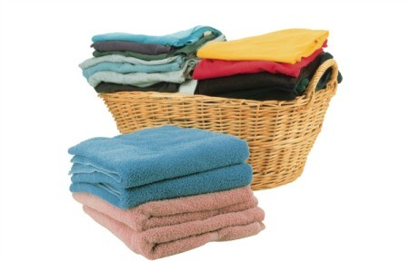 Stack of clean towels.