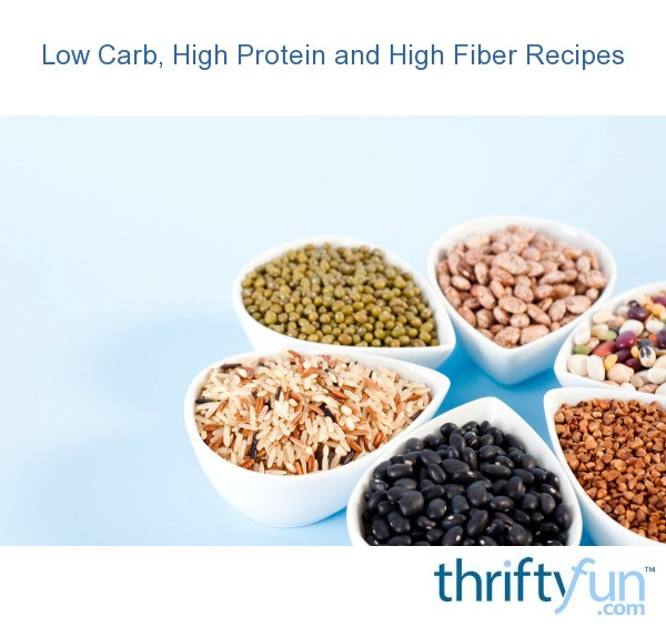 High protein high fiber low calorie foods, good healthy ...