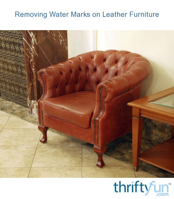 Removing Water Marks On Leather Furniture Thriftyfun