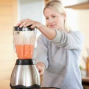 Woman Using a Leaky Blender
