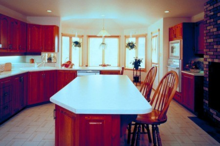 Kitchen With Vinyl Flooring