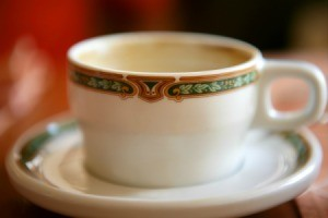 Stained Porcelain Cup