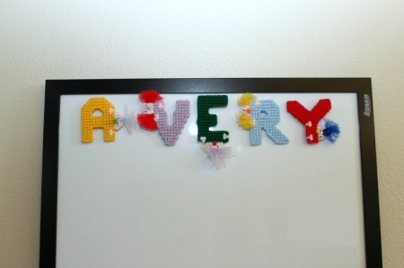 plastic canvas letters