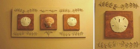 Long plaque with different shells.