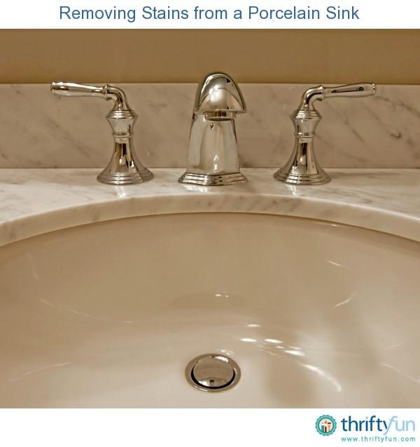 how to get metal marks off porcelain sink