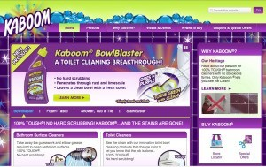 Screenshot of Kaboom's website.