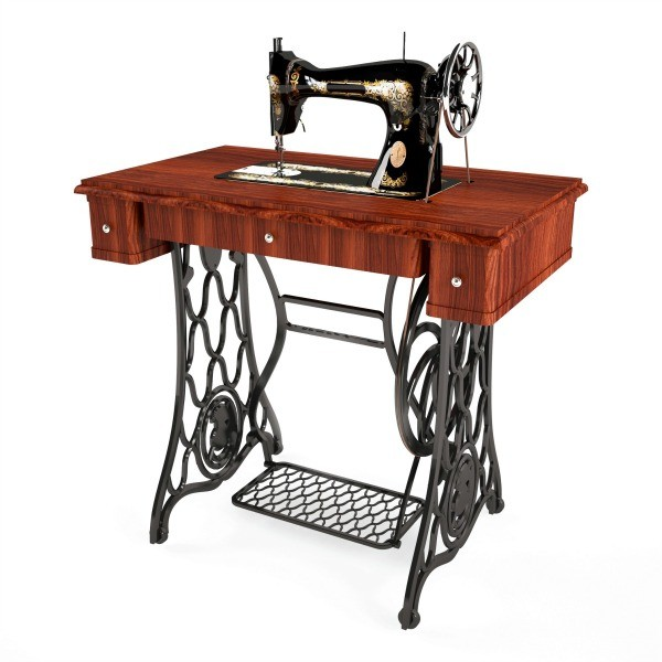 sewing machine operated