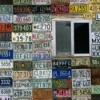 License Plates Decorating a Wall