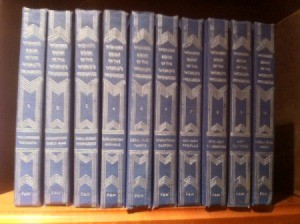 Volumes of encyclopedias.