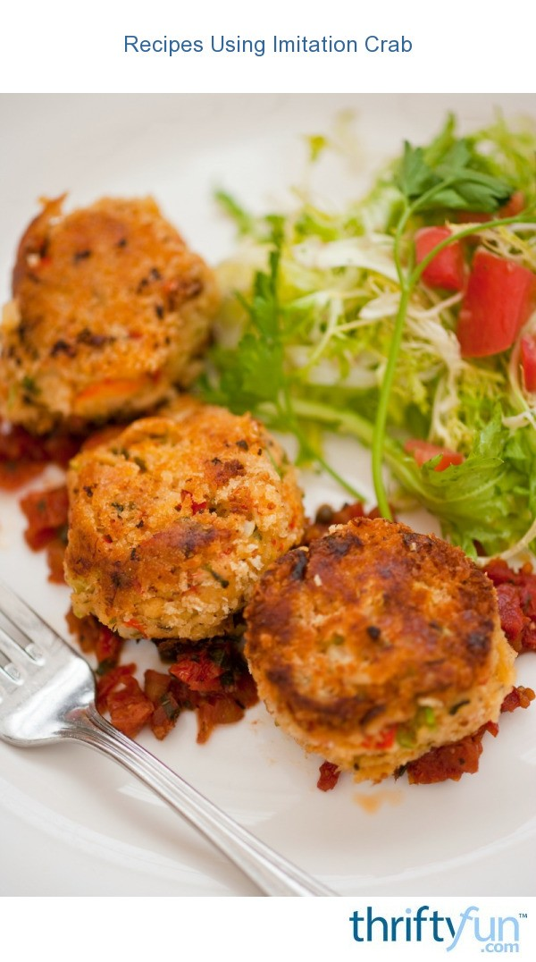 Crab Cakes Using Imitation Crab Meat