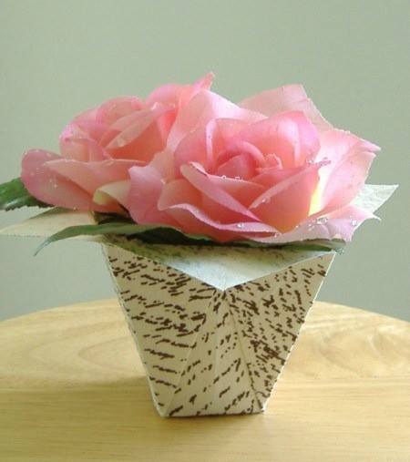 Folded Paper Flower Box