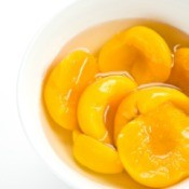 bowl full of peaches