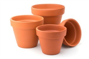 Clay Flower Pot Candle Heater