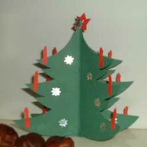 Three-dimensional Paper Christmas Tree