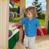 Child Playing at Summer Childcare Center