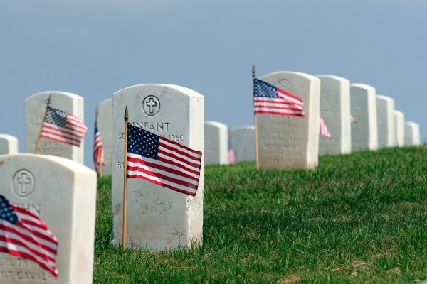 Headstones on Memorial Day