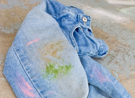 Grass Stains on Jeans
