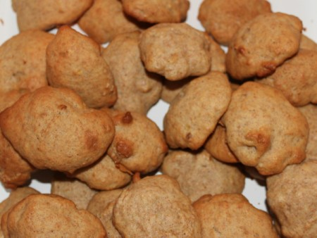 A batch of Banana Spice Cookies