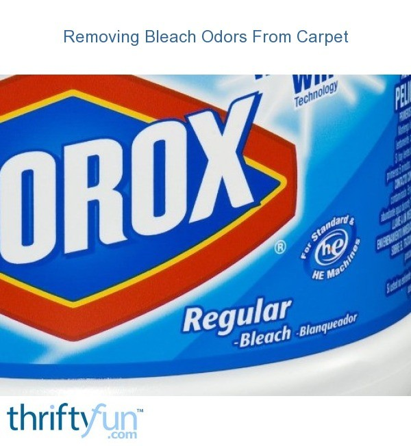 removing bleach odors from carpet thriftyfun. Black Bedroom Furniture Sets. Home Design Ideas