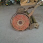 Closeup of mower.