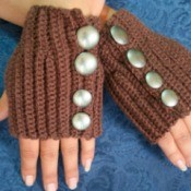 Crocheted Fingerless Gloves