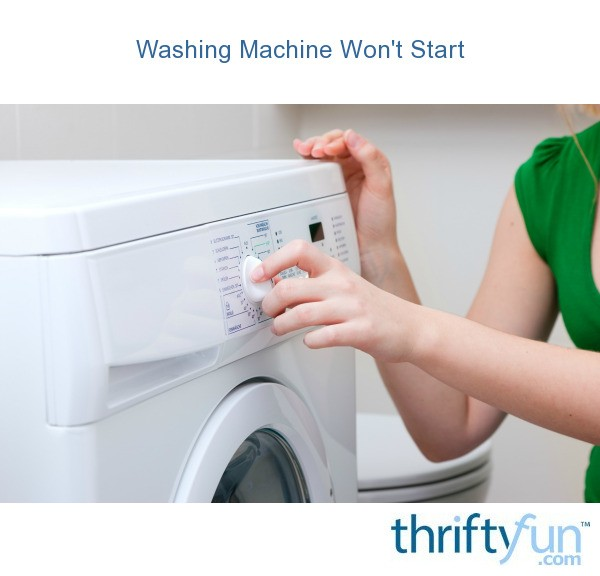 washer machine wont start