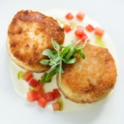 Crab cakes made with imitation crab meat.