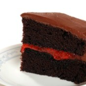 Chocolate Cake With a Jam Filling